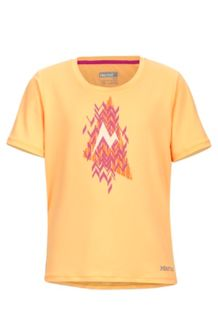 Girl's Post Time Tee SS, Orangesicle Heather, medium