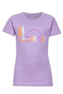 Girl's Scout Tee SS, Orchid, medium