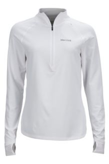 Wm's Excel 1/2 Zip, White, medium
