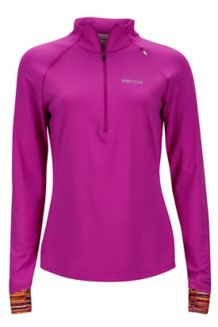 Wm's Excel 1/2 Zip, Neon Berry/Deep Plum Sprint, medium