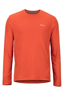 Men's Windridge Long-Sleeve Shirt, Orange Haze, medium