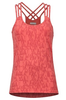 Women's Vogue Tank, Flamingo Wallflower, medium