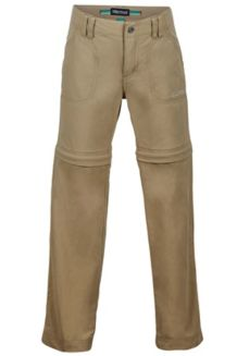 Girl's Lobo's Convertible Pant, Desert Khaki, medium
