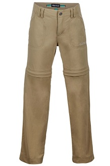 Girls' Lobo's Convertible Pants, Desert Khaki, medium