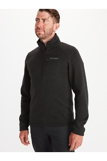 Men's Drop Line 1/2-Zip, Black, medium