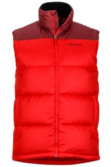 Guides Down Vest, Team Red/Port, medium