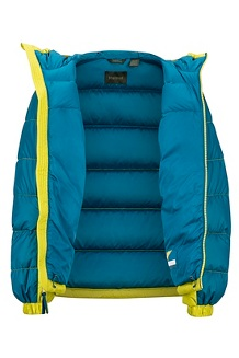 Kids' Guides Down Hoody, Citronelle/Moroccan Blue, medium