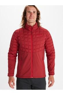 Men's Featherless Hybrid Jacket, Brick, medium