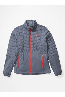 Men's Featherless Hybrid Jacket, Steel Onyx/Victory Red, medium