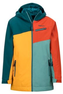Boy's Thunder Jacket, Golden Sun/Deep Teal, medium