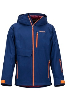 Men's Castle Peak Jacket, Arctic Navy/Hawaiian Sunset, medium