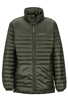 Boys' Hyperlight Down Jacket, Rosin Green, medium