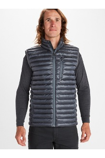 Men's Avant Featherless Vest, Steel Onyx, medium