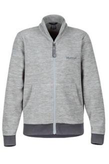 Boy's Couloir Fleece Jacket, Grey Storm/Slate Grey, medium