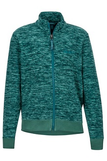 Boys' Couloir Fleece Jacket, Deep Teal, medium
