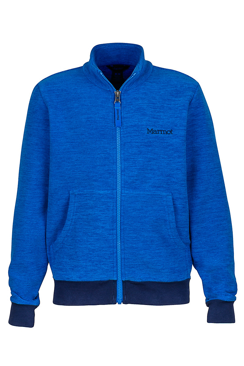 Boy's Couloir Fleece Jacket, True Blue/Arctic Navy, large