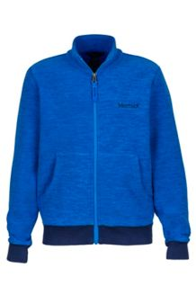 Boy's Couloir Fleece Jacket, True Blue/Arctic Navy, medium