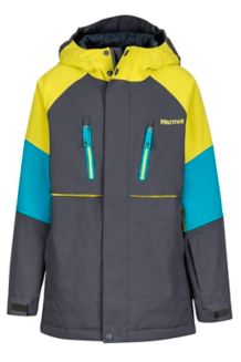 Boy's Gold Star Jacket, Slate Grey/Citronelle, medium