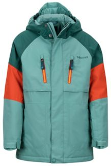 Boy's Gold Star Jacket, Blue Agave/Mallard Green, medium