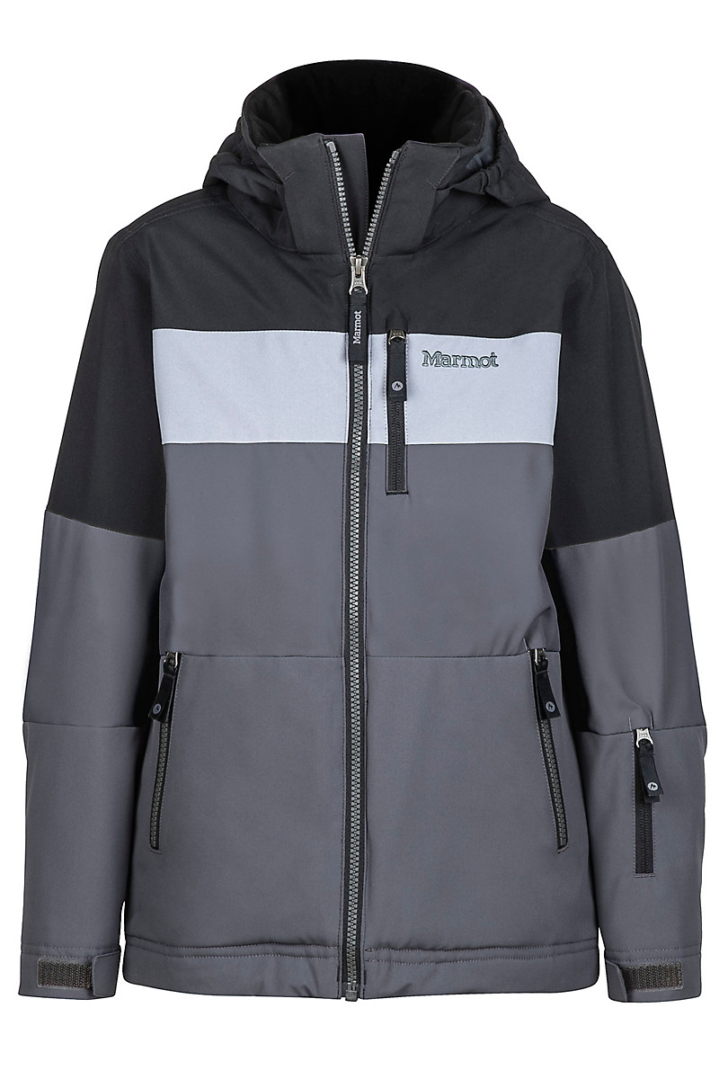 Boy's Headwall Jacket, Slate Grey/Black, large