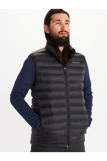 Men's Solus Featherless Vest, Black, medium