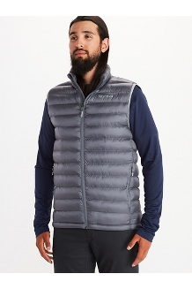 Men's Solus Featherless Vest, Steel Onyx, medium