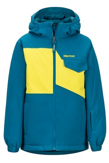 Boys' Rochester Jacket, Moroccan Blue/Citronelle, medium