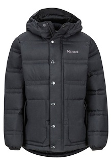 Boys' Ronan Down Jacket, Black, medium