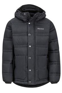 Boys' Ronan Down Jacket, Black, medium