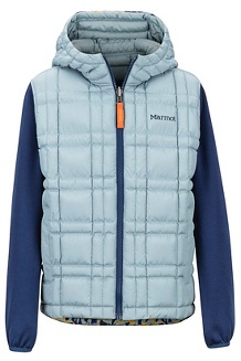 Boys' Featherless Reversible Hoody, Blue Granite/Arctic Navy, medium