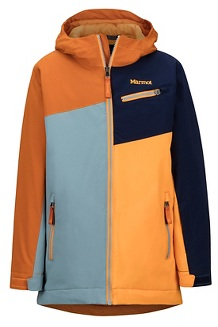 Boys' Thunder Jacket, Blue Granite/Hawaiian Sunset, medium