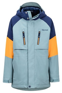 Boys' Gold Star Jacket, Blue Granite/Arctic Navy, medium