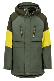Boys' Gold Star Jacket, Crocodile/Rosin Green, medium