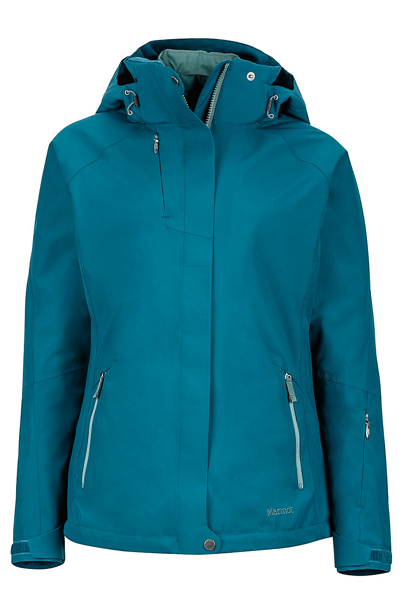 sugar loaf women Life is full of choices and the women's sugarloaf component has thought of them all made with marmot membrain waterproof and breathable fabric  and built with a 100 percent seam-taped, two-layer construction  the marmot sugar loaf component 3-in-1 jacket comes replete with a removable storm hood, removable thermal r liner jacket.