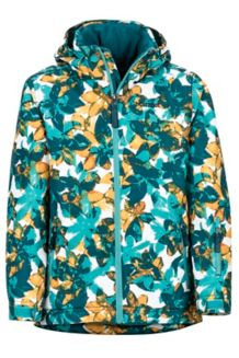Girl's Big Sky Jacket, Patina Green Floral Camo, medium