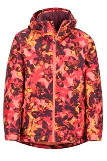 Girl's Big Sky Jacket, Living Coral Floral Camo, medium
