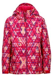 Girl's Big Sky Jacket, Pink Lotus Geo, medium