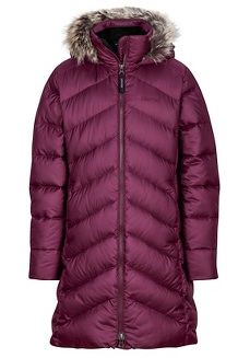 Girl's Montreaux Coat, Dark Purple, medium