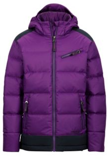 Girl's Sling Shot Jacket, Mystic Purple/Dark Steel, medium
