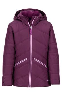 Girl's Val D'Sere Jacket, Dark Purple, medium