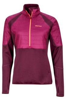 Wm's Furiosa 1/2 Zip, Dark Purple/Magenta, medium