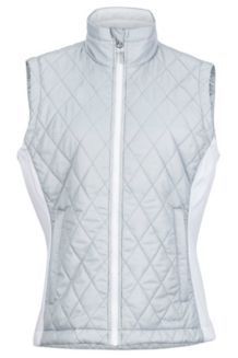 Wm's Kitzbuhel Vest, Bright Steel/White, medium