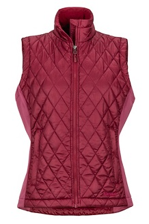 Women's Kitzbuhel Vest, Claret/Dry Rose, medium