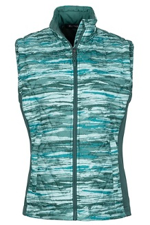 Women's Kitzbuhel Vest, Mallard Green Brush, medium