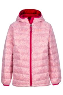 Girl's Nika Hoody, Bright Ruby Prism, medium