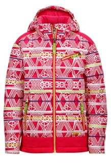 Girl's Starlight Jacket, Pink Rock Fusion/Pink Rock, medium