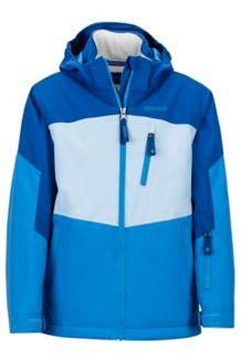 Girl's Elise Jacket, Lakeside/Dark Cerulean, medium