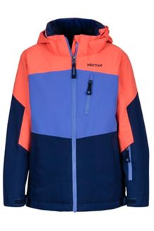Girl's Elise Jacket, Arctic Navy/Living Coral, medium