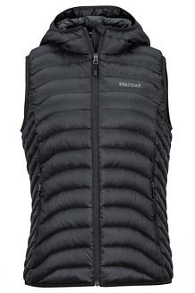 Women's Bronco Hooded Vest, Black, medium