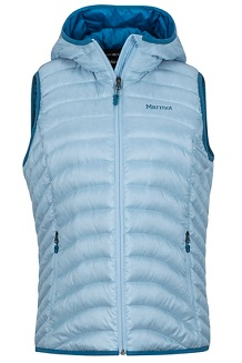 Women's Bronco Hooded Vest, Iceberg, medium